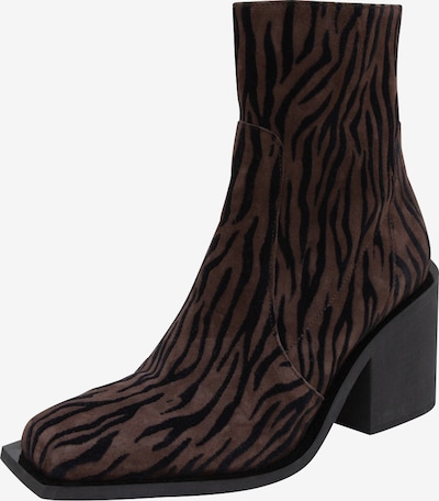 EDITED Bottines 'Riane' en marron / noir: Vue de face