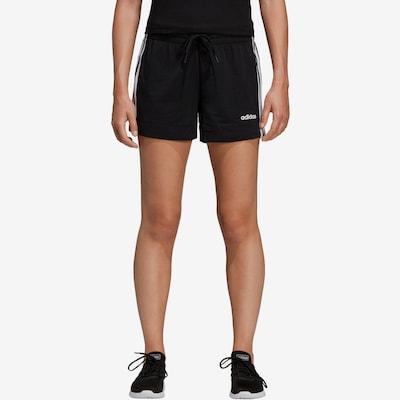 ADIDAS PERFORMANCE Shorts 'W E 3S' in schwarz / weiß: Frontalansicht