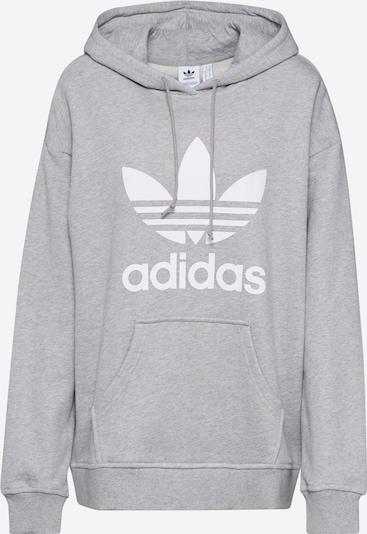 ADIDAS ORIGINALS Sudadera en gris / blanco, Vista del producto
