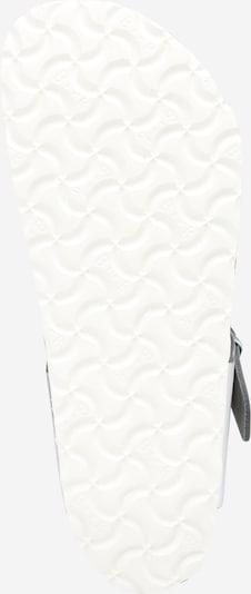 BIRKENSTOCK Zehentrenner 'Gizeh SFB' in silber: Ansicht von unten