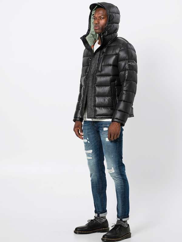 D'hiver Jeans 'walbrooks' Pepe Veste En Noir b6gyYf7