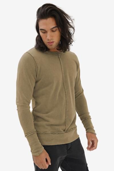 trueprodigy Sweatshirt 'Fray' in khaki: Frontalansicht