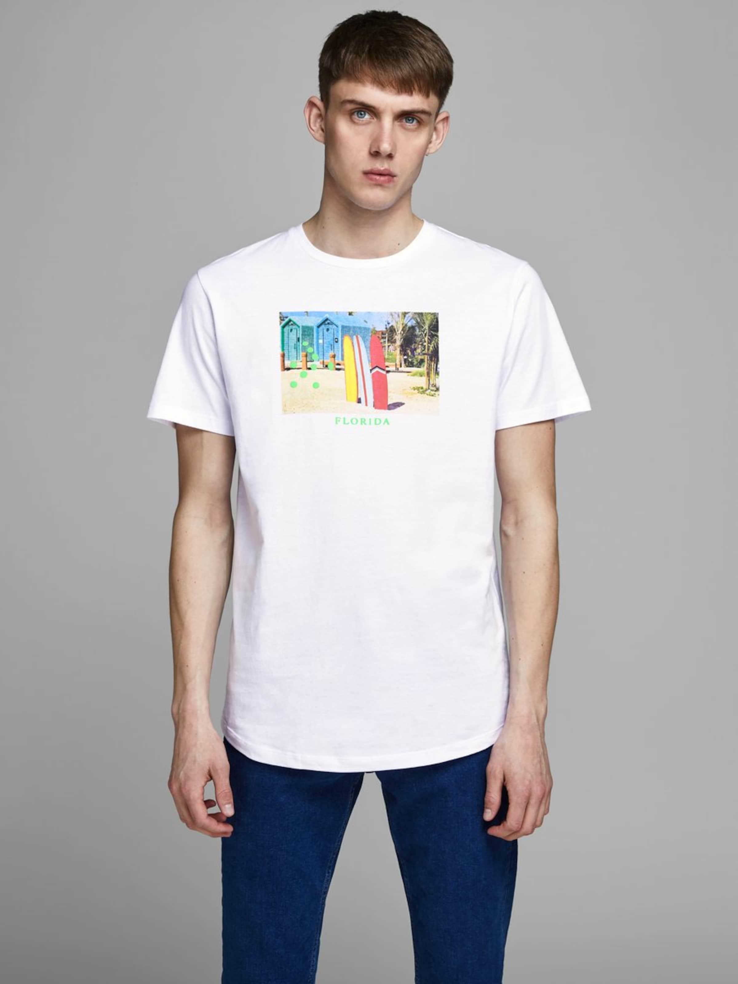 T In Jackamp; Jones shirt MischfarbenWeiß yOvNn0wm8P