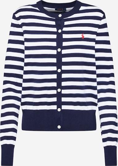 POLO RALPH LAUREN Cardigan en bleu marine / blanc, Vue avec produit