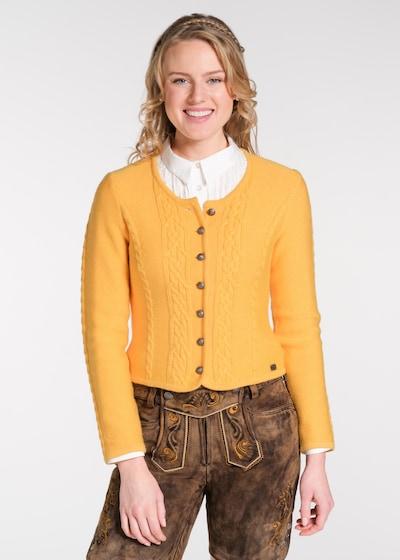SPIETH & WENSKY Knitted Janker 'Bonn' in Yellow, View model