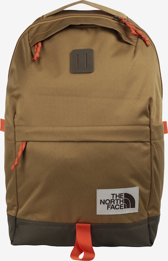 THE NORTH FACE Rugzak in de kleur Kaki / Oranjerood, Productweergave