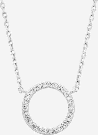 Estella Bartlett Kette 'Large Pave Set Circle CZ' in silber, Produktansicht