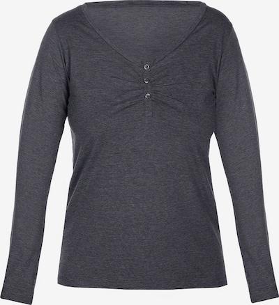 sassa Langarm-Shirt 'MELANGE MIX&MATCH' in graumeliert, Produktansicht