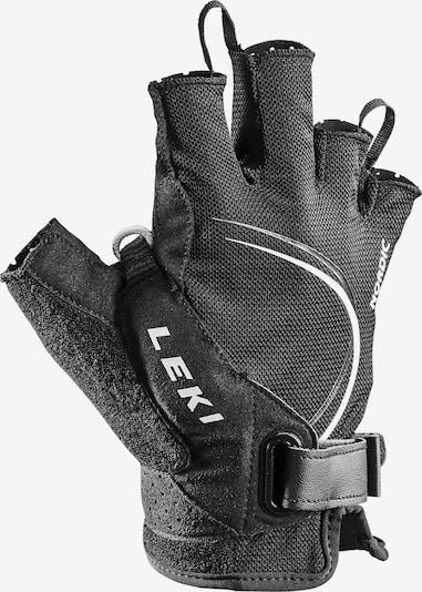 LEKI Handschuhe 'Nordic' in schwarz / weiß, Produktansicht