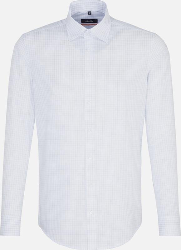 SEIDENSTICKER Hemd in royalblau   weiß  Markenkleidung für Männer und Frauen