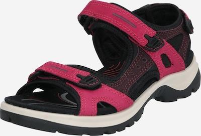 ECCO Sandale za hodanje 'Offroad' u ljubičasto crvena / crna, Pregled proizvoda
