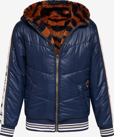 WE Fashion Winterjacke in blau / cognac / weiß, Produktansicht