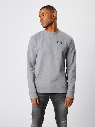 PATAGONIA Sweatshirt 'M's P-6 Label Uprisal Crew Sweatshirt' in grau, Produktansicht