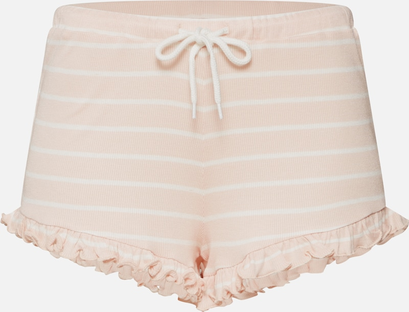 Review Shorts 'RUFFLE SHORT STR D-JERSEY HOSE' in rosa, Produktansicht