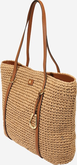 Lauren Ralph Lauren Shopper 'CROCHET STRAW-TOTE-TTE-MED' in brown, Item view