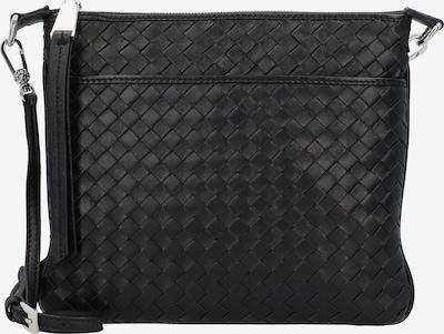 ABRO Schoudertas 'Piuma Weaving' in de kleur Zwart, Productweergave