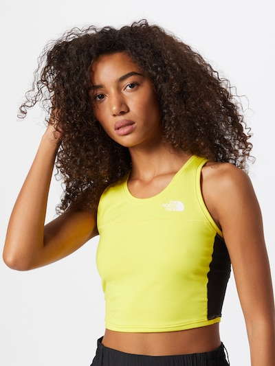 THE NORTH FACE Haut de sport en jaune fluo / noir: Vue de face