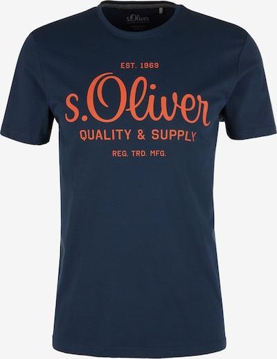 s.Oliver T-Shirt in dunkelblau / rostrot, Produktansicht