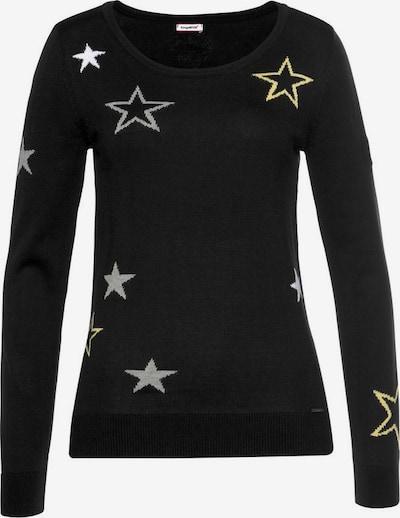 KangaROOS Pullover in gelb / grau / schwarz / weiß, Produktansicht