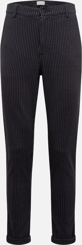 Lindbergh Hose 'Chino pants w/ elastic waist' in navy: Frontalansicht