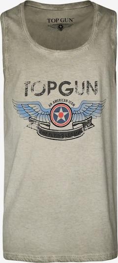 TOP GUN Tank Top ' Flap ' in grün, Produktansicht