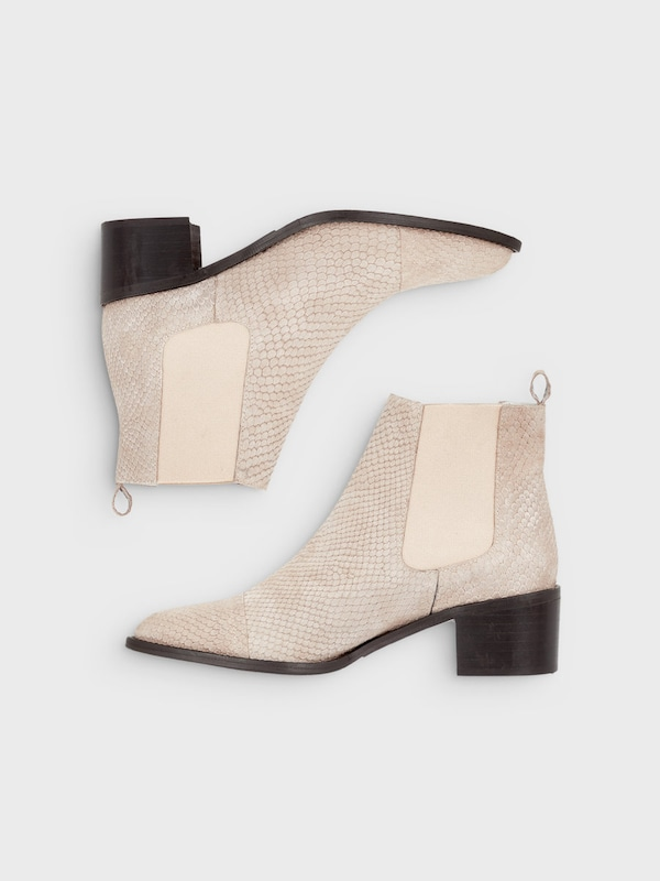 Elegant White Chelsea Stiefel