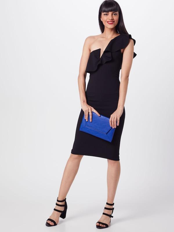 Robe Shoulder Frill 'one En Noir Dress' Missguided Soirée Midi De EID29HW