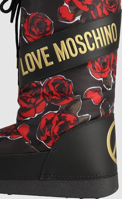 Love Moschino | Snowboots 'SKI FLOWER' Schuhe Gut getragene getragene getragene Schuhe ba3394
