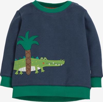 frugi Sweatshirt in blau / grasgrün, Produktansicht