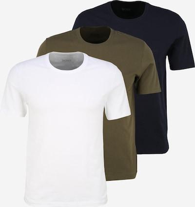 BOSS Shirt in nachtblau / khaki / weiß, Produktansicht