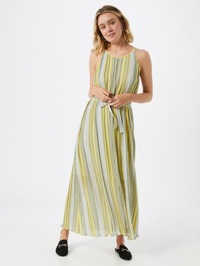BOSS Kleid 'Ebbona' in gelb / hellgrün, Modelansicht