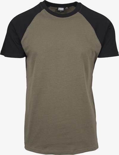 Urban Classics Shirt in de kleur Olijfgroen / Zwart, Productweergave