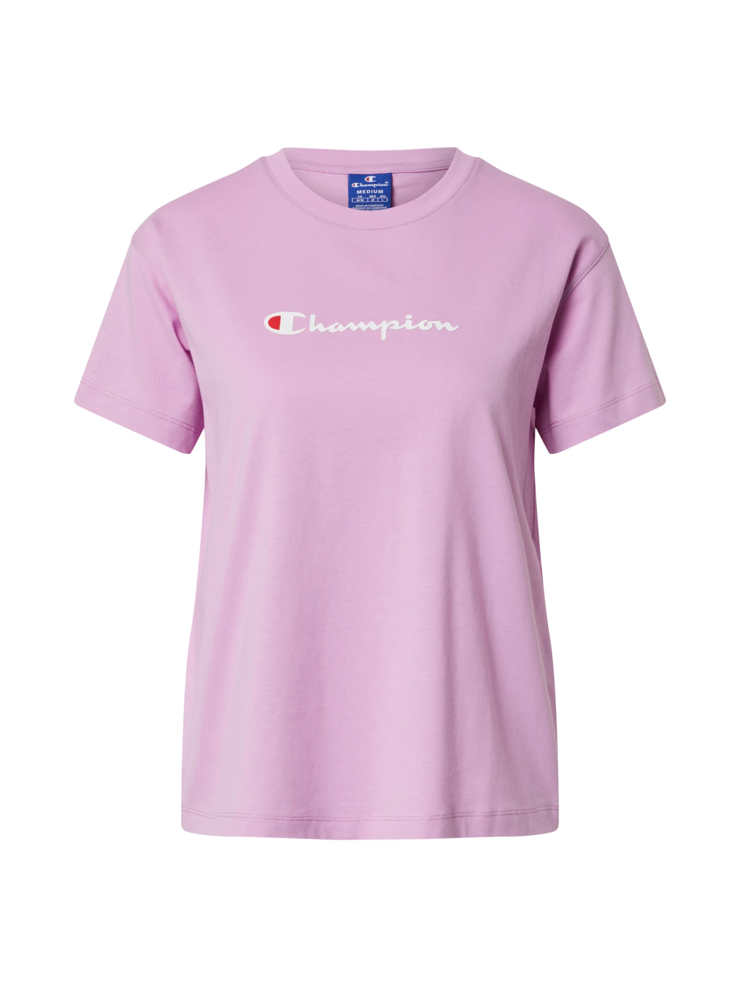 Champion Authentic Athletic Apparel Póló lila / fehér színben