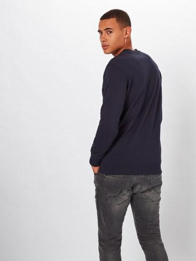 Calvin Klein Jeans Sweat-shirt en noir / blanc: Vue de dos