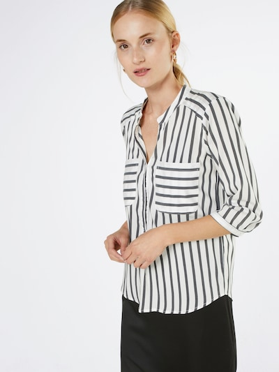 VERO MODA Streifenbluse 'VMErika' in grau / weiß, Modelansicht