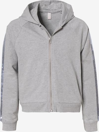 ESPRIT Sweatjacke mit Kapuze & Pailletten in grau, Produktansicht