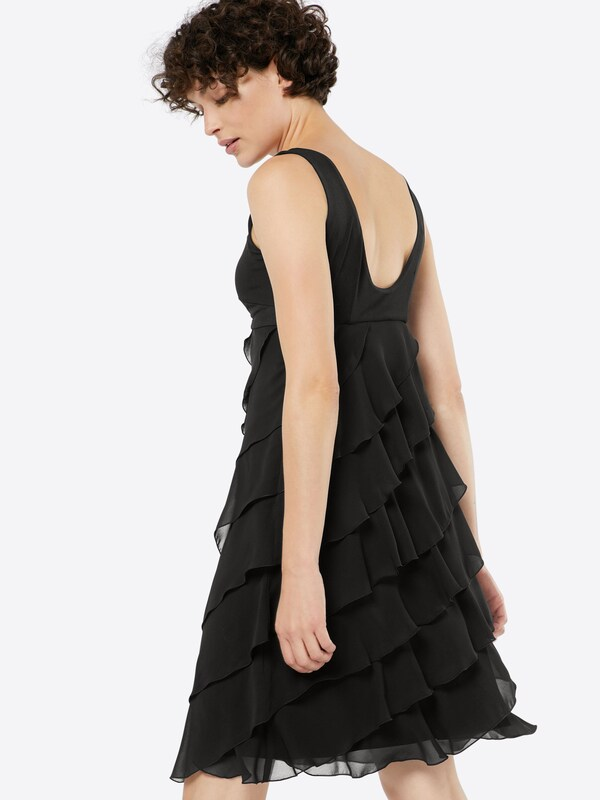 Swing Dress With Volants From Chiffon