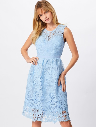 Boohoo Kleid 'LACE SKATER DRESS' in hellblau, Modelansicht