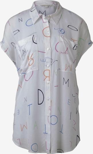 TOM TAILOR DENIM Bluse in mischfarben / offwhite, Produktansicht