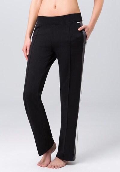BENCH Hose in dunkelgrau / schwarz / weiß, Produktansicht