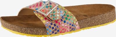 HAFLINGER Pantoletten 'Gina' in hellbraun / mischfarben, Produktansicht