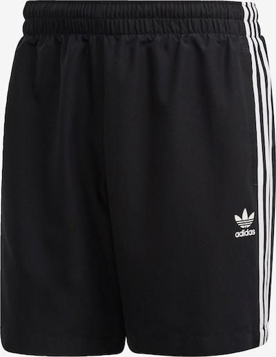 ADIDAS ORIGINALS Kratke kopalne hlače | črna / bela barva, Prikaz izdelka