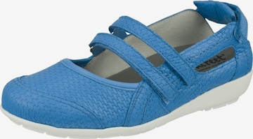 Natural Feet Ballet Flats with Strap 'Josi' in Blue
