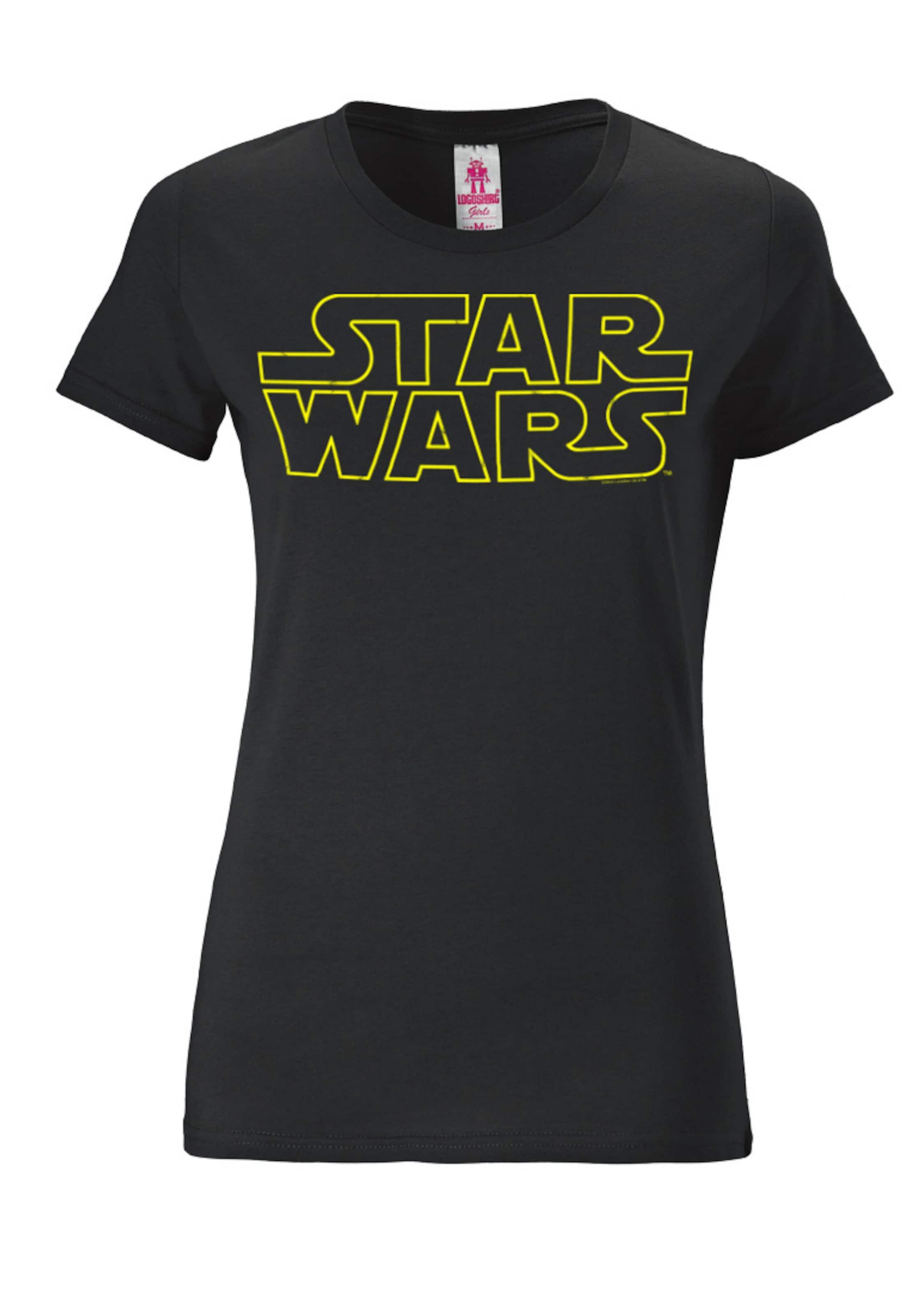 Sterne' T GelbSchwarz In shirt Logoshirt Der 'krieg OkXTZwPui