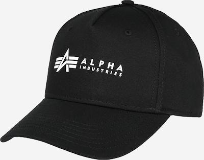 ALPHA INDUSTRIES Cap in schwarz / weiß, Produktansicht