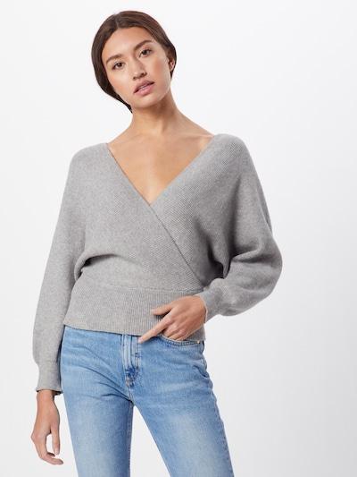 Boohoo Pullover 'Wrap' in hellgrau, Modelansicht