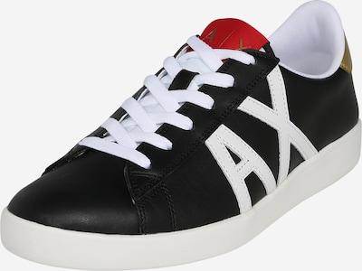 fekete / fehér ARMANI EXCHANGE Rövid szárú edzőcipők, Termék nézet