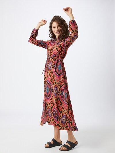 ONLY Kleid 'ONLBETTY L/S MID CALF SHIRT DRESS WVN' in mischfarben / pink, Modelansicht