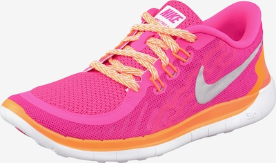 NIKE Free Run 5.0 Girls Laufschuh in orange / pink / silber, Produktansicht