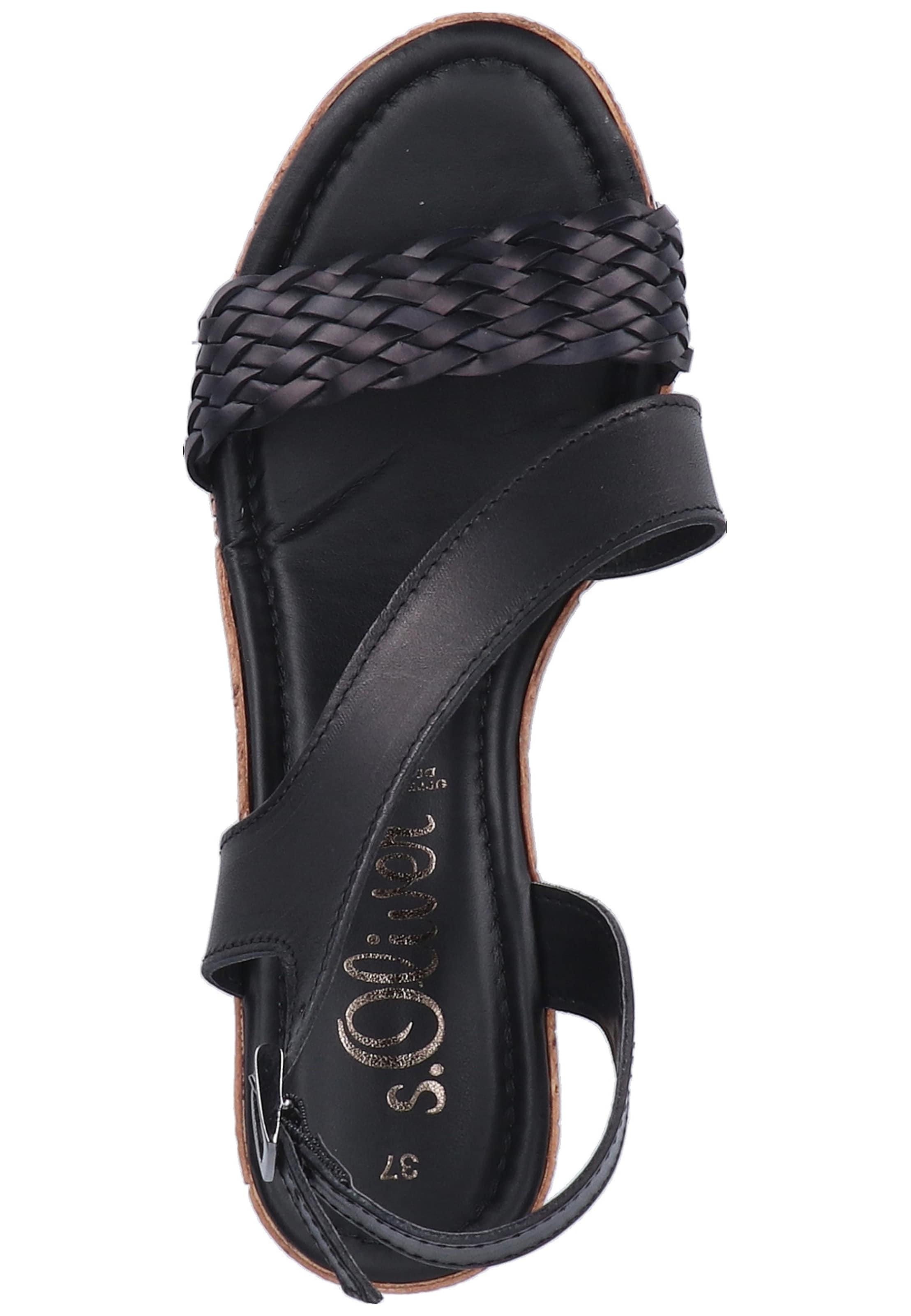 Schwarz Red In Label oliver S Sandale odBCxe